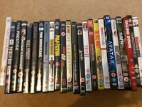 Collection of 24 DVDs across a range of genres
