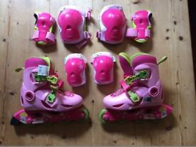 k inline roller skates children size UK 11.5 to 13 with protective gear