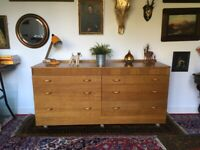 Vintage School Chest Of Drawers Sideboard Cabinet Mid Century Retro