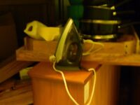 reduced hardly used tefal steam iron