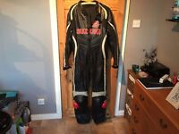 All in one leather motorcycle suit