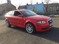 Audi A3 1.6 petrol 2008 facelift s3 Interior 18 inch rs4 alloys fvsh 12 months mot 2 keys mint car