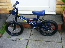 "BOYS 14"" WHEEL SPACEMAN BIKE HARDLY USED AGE 4-6"