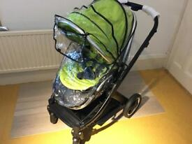 BabyStyle Oyster Style 2, Black Chassis, Buggy Pushchair and Unused Pram Lime Green - postage