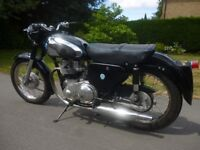 AJS 600cc Twin Classic Motorcycle Excellent Condition
