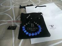 TRESOR PARIS BRAND NEW 10mm BLUE CRYSTAL BRACELET BOUGHT FOR £48