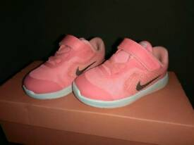 Nike Revolution 3 - Pink and White, Baby Size 4.5UK