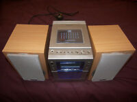 Hitachi Stereo Audio Micro System with Radio and Cassette.