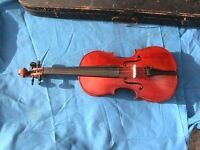Full sized Maidstone violin with bow and case
