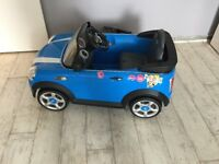 Children's Mini Cooper car