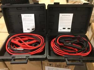 NEW CASE OF HEAVY DUTY BOOSTER CABLES (2) 1 GA 800 AMP 25 FT COLD WEATHER