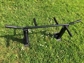 Mounted pull up bar