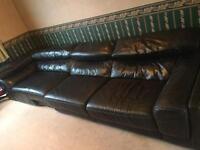Left hand leather corner sofa