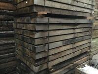 Oak railway sleepers pressure treated