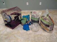 Full hamster cage and accessories