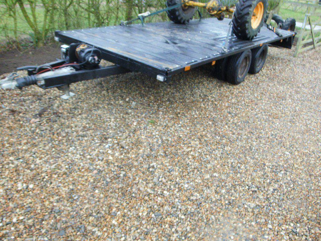 flat bed twin axle trailer, 3 5 ton transit dually 16ft | in Eye, Suffolk |  Gumtree