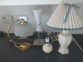 Table lamps and shades