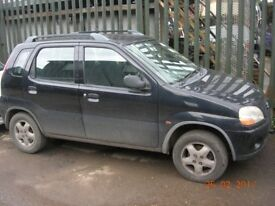 Suzuki ignis 1328 cc; 5 door hatchback petrol, 2001, !!!!!BREAKING FOR SPARES / PARTS !!!!!