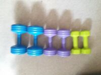3 sets of york weights 3kg 4kg 5kg