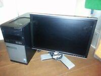 DELL OPTIPLEX 990 MT / 20 INCH DELL LCD / 250GB / 4GB RAM