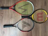 Tennis racquets x3 junior size