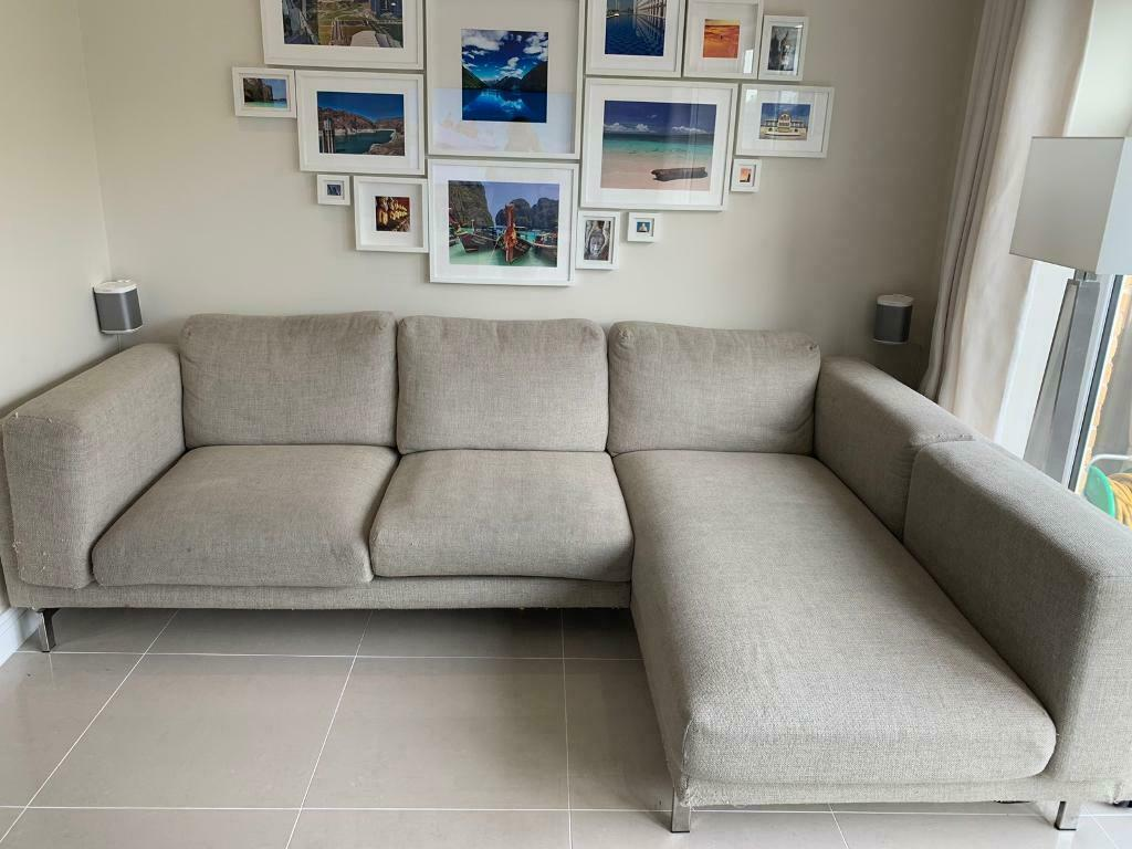 Ikea Nockeby 3 Seater Sofa With Chaise Lounges In West Drayton London Gumtree