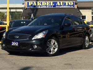 2012 Infiniti G37X LUXURY PKG*NAVI*CAMERA*PARK ASSIST*AWD*FULLY