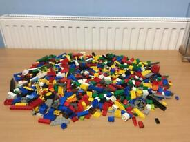 JOBLOT OF 1,15 KG MIXED GENUINE LEGO PARTS PIECES BRICKS