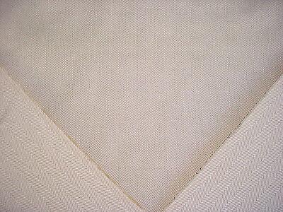 Luxury Herringbone Fabric - 7-1/2Y RALPH LAUREN LUXURIOUS FLAX / BEIGE LINEN HERRINGBONE UPHOLSTERY FABRIC