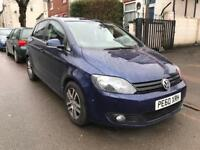 2010 VW GOLF PLUS SE 1.6 TDI DIESEL. 6 SPEED. ECONOMICAL RELIABLE CAR. 2 OWNERS. A/C. CRUISE. ALLOYS