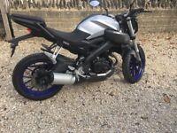 YAMAHA MT-125CC NAKED MOTORCYCLE.