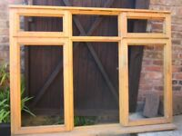 BARGAIN 5x large wooden window frames with furniture unused REDUCED to £20EACH