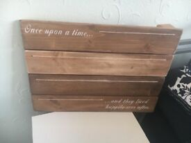 """Once Upon A Time"" Wooden Picture Board"
