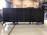 Restoration Hardware Black Printmaker's Sideboard or Buffet or TV Stand