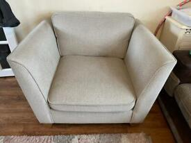 Large single or small cuddle chair