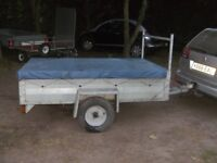 FULLY GALVANISED 6-6 X 4-0 GOODS TRAILER WITH LADDER RACK / H/D COVER..