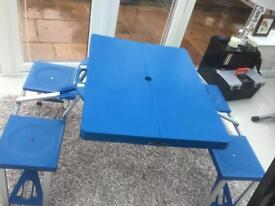 Camping table and seats vgc