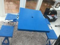 Camping table and seats vgc