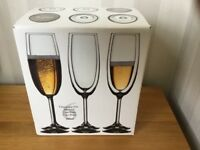Crystalex lead free crystal champagne flutes 220ml