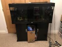 4ft fishtank with stand, filters & acc. Approx 300 litres