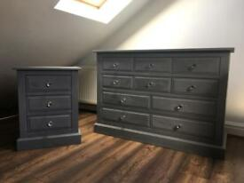 Lovely up cycled grey units.