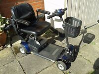 Mobility Scooter and storage shed. In good working order and easy to use.