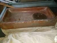 Salt GLAZED victorian sink garden trough pipe