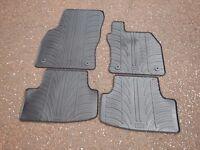 Genuine SEAT Leon 5F Rubber Mats, also fit Golf MK7, Audi A3, Skoda Octavia