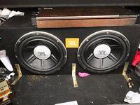 "Twin 12"" JBL Subwoofer with 3000 WATT AMP"