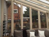 Hardwood double glazed conservatory end panels