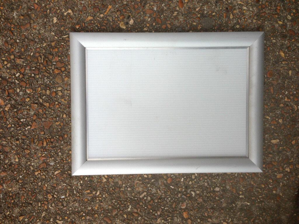 5x A4 Silver Snap Frames Aluminium Clip Retail Shop Wall Poster ...