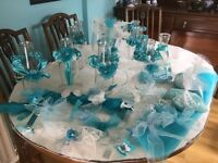 Turquoise wedding table decorations