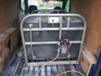 window cleaning water tank and pump