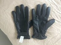Men's Leather Gloves - Large